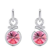 Bűvölet- rózsaszín- Swarovski kristályos - Fülbevaló