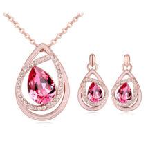 Sophie ékszerszett - rózsaszín- Swarovski kristályos