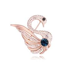 Queen of the swan- Swarovski kristályos bross - kék