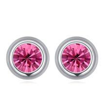 Pont Swarovski fülbevaló- rózsaszín