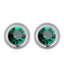Pont Swarovski fülbevaló- smaragd zöld