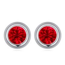 Pont Swarovski fülbevaló- piros