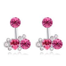 Design- rózsaszín - Swarovski kristályos fülbevaló