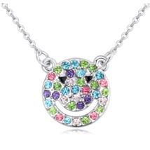Smiling bear- Swarovski kristályos nyaklánc- színes