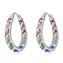 Kristálykarika  -színes- Swarovski kristályos fülbevaló