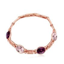 Ornament - Swarovski kristályos karkötő - lila-rózsaszín