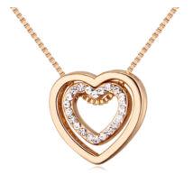 Aphrodité -arany- Swarovski kristályos nyaklánc - fehér