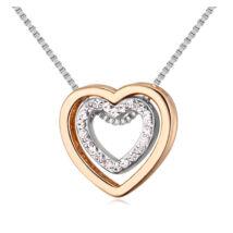 Aphrodité- arany-ezüst - Swarovski kristályos nyaklánc - fehér