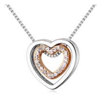 Aphrodité-ezüst -arany- Swarovski kristályos nyaklánc - fehér