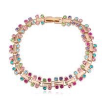 Apró szépség - Swarovski kristályos karkötő - színes