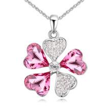 Fiore fortuna- rózsaszín- Swarovski kristályos nyaklánc
