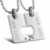 """""""Szerelmünk, reményünk""""- páros acél nyaklánc"""