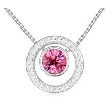 Ding-dong- rózsaszín- Swarovski kristályos nyaklánc