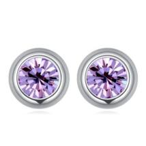 Pont Swarovski fülbevaló- halvány lila