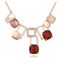 Színes függő csodák- Swarovski kristályos arany nyaklánc