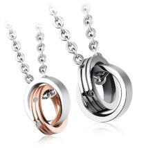 Gyűrűpár - páros acél nyaklánc