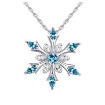 Ice flower - Swarovski kristályos nyaklánc - világoskék
