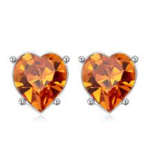 Sinful heart - Swarovski kristályos fülbevaló - borostyán