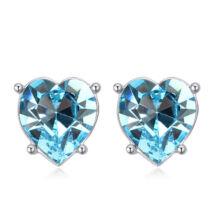 Sinful heart - Swarovski kristályos fülbevaló - világoskék