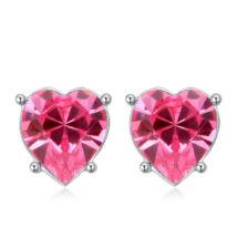 Sinful heart - Swarovski kristályos fülbevaló - rózsaszín