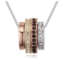 Csodakarika  - Swarovski kristályos nyaklánc - rózsaarany, ezüst, arany