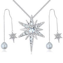 Csillag és gyöngy - fehér - Swarovski kristályos ékszerszett