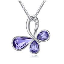 Quiet butterfly  - Swarovski kristályos nyaklánc - lila