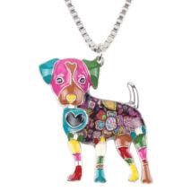 Jack russel kutyus nyaklánc - színes