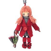 Esernyős kislány - nyaklánc - piros - BABA kollekció