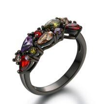 Sissott - cirkóniaköves divatgyűrű - fekete színben