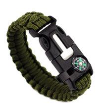 5 funkciós paracord túlélő karkötő -katonai zöld