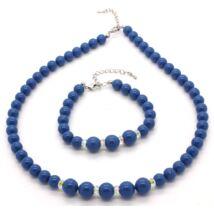 Swarovski gyöngy ékszerszett -  Crystal Turquoise