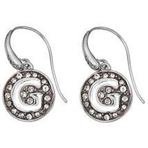 GUESS sötét ezüst színű, G betűt formáló fülbevaló