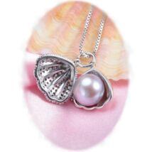 Tullia - valódi gyöngy nyakék - rózsaszín
