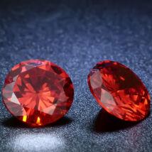 4 db csillogó cirkóniakő - piros