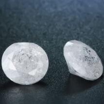 4 db csillogó cirkóniakő-jégkristály, hófehér