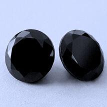 4 db csillogó cirkóniakő - fekete