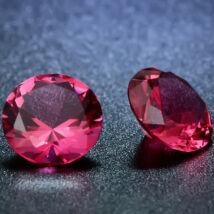 4 db csillogó cirkóniakő - rózsaszín