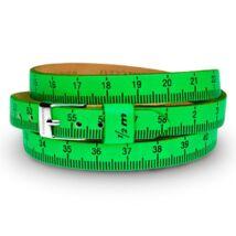 Il MEZZOMETRO -  FLUO-Silver - bőrből készült karkötő, zöld színben