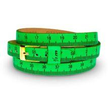 Il MEZZOMETRO -  FLUO-Gold - bőrből készült karkötő, zöld színben