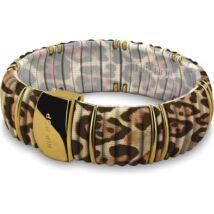 HIP-HOP Jewels - Kint Leopard - szilikon-nemesacél-szövet karkötő
