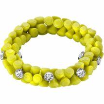 HIP-HOP Jewels -Gem - szilikon-kristály karkötő - sárga