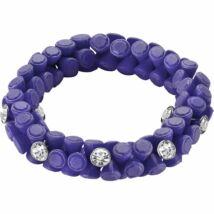 HIP-HOP Jewels -Gem - szilikon-kristály karkötő - lila