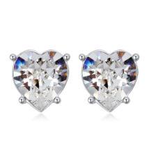 Sinful heart - Swarovski kristályos fülbevaló - fehér