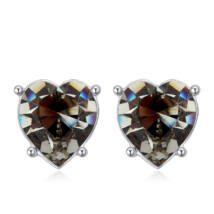 Sinful heart - Swarovski kristályos fülbevaló - oliva