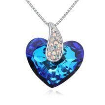 Corazón- Swarovski kristályos nyaklánc-kék