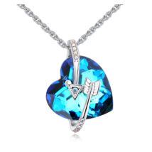 Alcee - Swarovski kristályos nyaklánc - színjátszó kék