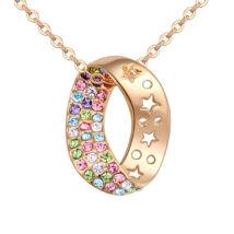 Arany kristálykanyar - Swarovski kristályos nyaklánc - színes