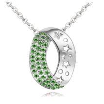 Kristálykanyar - Swarovski kristályos nyaklánc - zöld