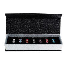 7 nap, 7 ékszer - ékszerdobozos Swarovski kristályos fülbevaló kollekció - 5,2 mm gömb kristályos